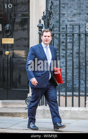 Robert Jenrick MP (Minister for Housing) leaving a meeting about ...