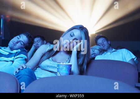 People Asleep in Movie Theater