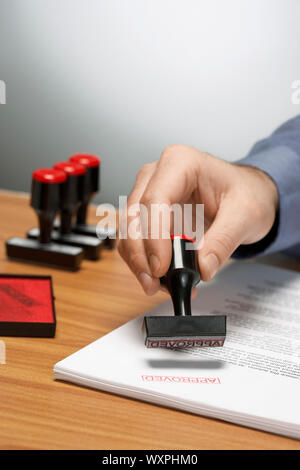 Stamp of Approval - Stock Photo