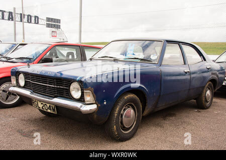 1973 Ford Cortina Mark 3 Tatty Family Car - Stock Photo