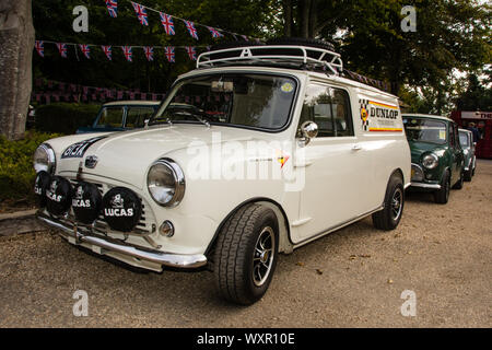 1960s White Mini Van - Stock Photo