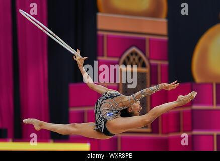 Baku, Azerbaijan. 17th Sep, 2019. !! during the 37th Rhythmic Gymnastics World Championships match between and Day 2 at the National Gymnastics Arena in Baku, Azerbaijan. Ulrik Pedersen/CSM. Credit: Cal Sport Media/Alamy Live News