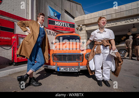 Vintage-themed Goodwood Revival. Britain's greatest annual classic car show celebrates the mid-20th-century heyday of the Goodwood racing circuit.