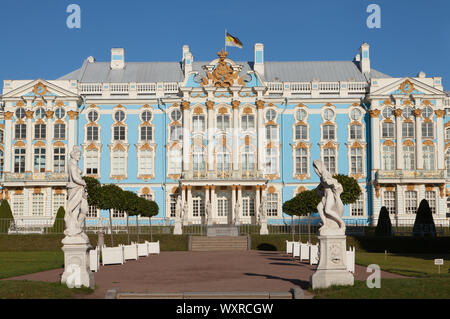 Catherine Palace, Catherine Park, Tsarskoe Selo, Pushkin, Russia. - Stock Photo