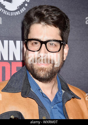 BEVERLY HILLS, CA - SEPTEMBER 16: Adam Goldberg attends the Premiere Of Quiver Distribution's 'Running With The Devil' at Writers Guild Theater on September 16, 2019 in Beverly Hills, California. - Stock Photo