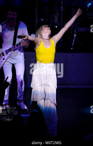 September 14, 2019, Toronto, Ontario, Canada: Canadian singer, songwriter, and actress, Carly Rae Jepsen, performed asold out show in Toronto. In picture: CARLY RAE JEPSEN (Credit Image: © Angel Marchini/ZUMA Wire)