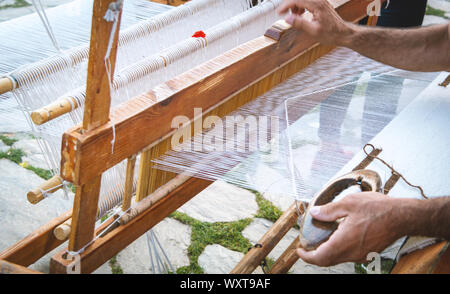 carpet looms used in ancient times - Stock Photo