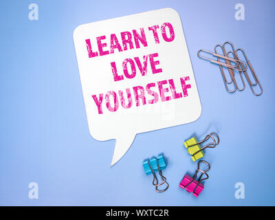Learn to Love Yourself. Speech bubble - Stock Photo