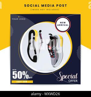 Fashion sale social media post post vector design illustration - Stock Photo