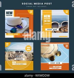 Minimal style sale web banners vector illustration - Stock Photo
