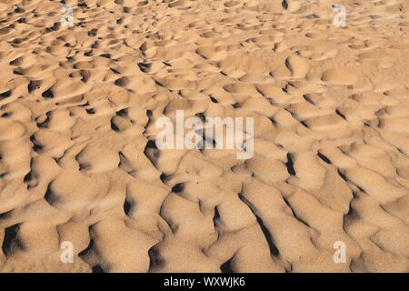 Mini sand dunes at a beach in Greece. - Stock Photo