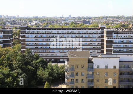 Council housing blocks in Islington, north London, UK - Stock Photo