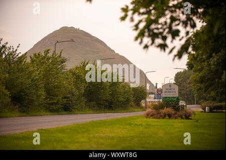 North Berwick Law or Berwick Law is a conical hill in North Berwick. North berwick summer daily scenes and landscapes. - Stock Photo