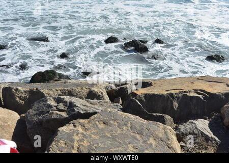 Costa Nova beach, Aveiro - Stock Photo