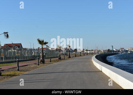 Walk side by side with Ria de Aveiro with fantastic views in Portugal - Stock Photo