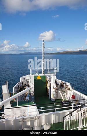 UK, Scotland, Western Highlands, Sound of Sleat, 'MV Coruisk' Caledonian MacBrayne ferry to Armadale - Stock Photo