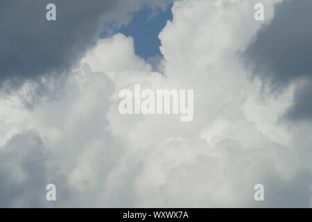 Clouds. Dramatic gray sky, Germany - Stock Photo