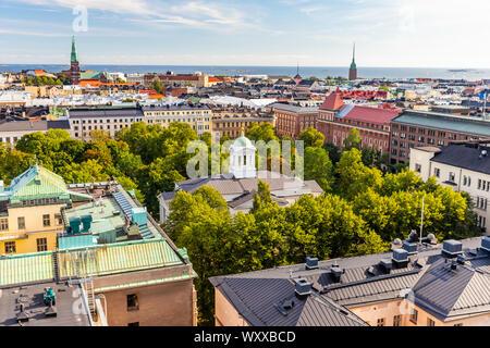 Helsinki view from Torni, Finland