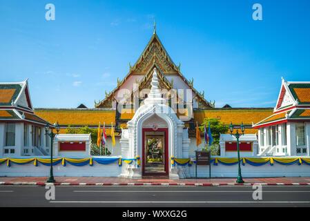 facade of wat suthat at bangkok, thailand - Stock Photo