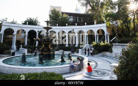 Baku, Azerbaijan. 18th Sep, 2019. BAKU, AZERBAIJAN - SEPTEMBER 18, 2019: Fountain at Governor's Park. Natalia Fedosenko/TASS Credit: ITAR-TASS News Agency/Alamy Live News