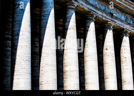 Columns in St. Peter's Square - Stock Photo