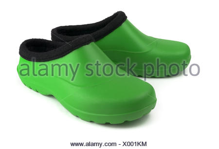 Green  rubber boots - Stock Photo