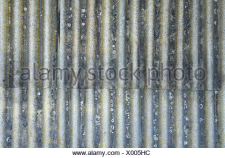Rusty corrugated metal sheet - Stock Photo