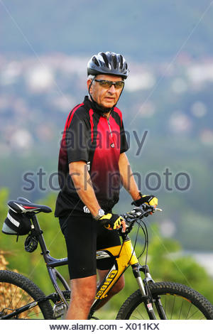 sports,fitness,active seniors,cyclists - Stock Photo