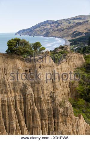 Grounderosion, Newzealand - Stock Photo