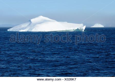 Iceberg in Davis Strait off Baffin Island, Nunavut, Canada, Arctic - Stock Photo