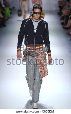 Etro Milan Menswear S S Funky casual wear - Stock Photo
