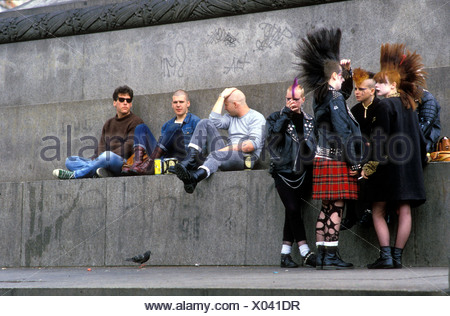 Punks in London early 1980s UK - Stock Photo