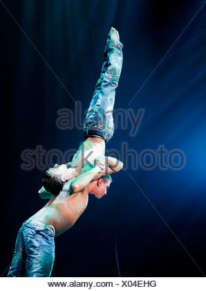 Spirin and Kotelnikov, FlicFlac Christmas Circus, premiere of Schrille Nacht, eilige Nacht, Westfalia Hall, Dortmund - Stock Photo