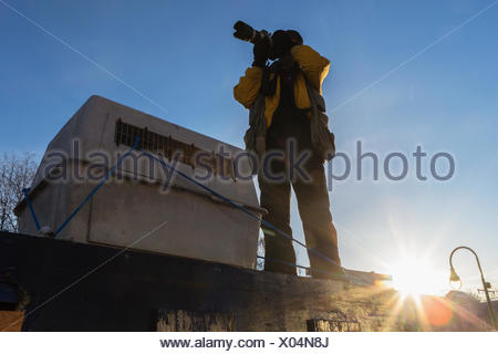 Sunlight,Photographer,Iditarod,Jeff Schultz - Stock Photo