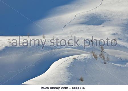 Austria, Salzburg, Rauristal, Hohe Tauern, skiers, - Stock Photo