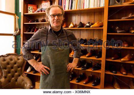 Occupational report with shoemaker Klemann Shoes: Champion Benjamin Klemann - Stock Photo