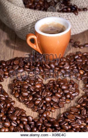 cafe espresso coffee - Stock Photo