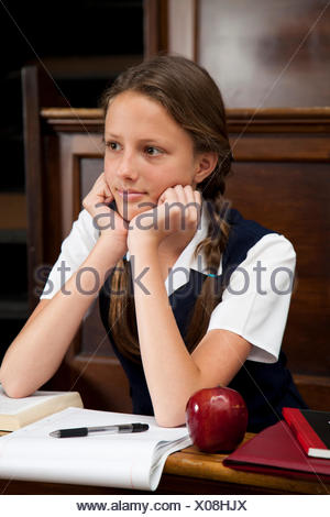 Teenage Student in Class - Stock Photo