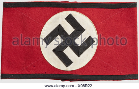 Armband For The Black Service Uniform Black Rimmed Red Cloth With