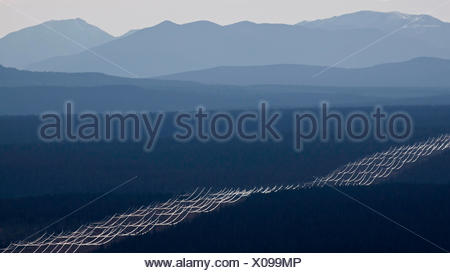Aerial photography over the  south cariboo region of British Columbia Canada - Stock Photo