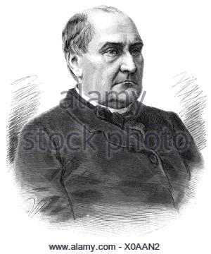 Bonaparte-Patterson, Jerome Napoleon II, 5.11.1830 - 3.9.1893, American military officer, portrait, wood engraving, , - Stock Photo