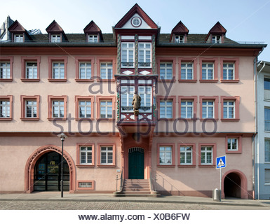 Former Erbacher Hof, library of the diocese of Mainz, cathedral library, Mainz, Rhineland-Palatinate, PublicGround - Stock Photo