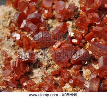 Vanadinite crystals - Stock Photo