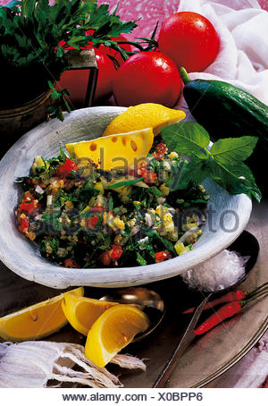 Lamb and vegetable soup, Algeria, recipe available for a fee - Stock Photo