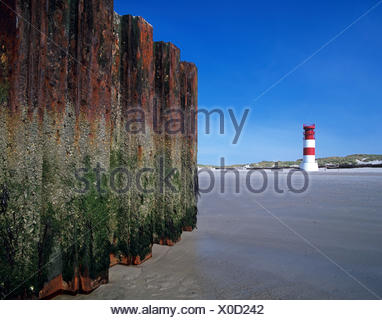 Lighthouse on the dune, island Helgoland, Schleswig - Holstein, North Germany, Germany, Europe, - Stock Photo