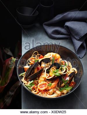 Spaghetti marinara - Stock Photo
