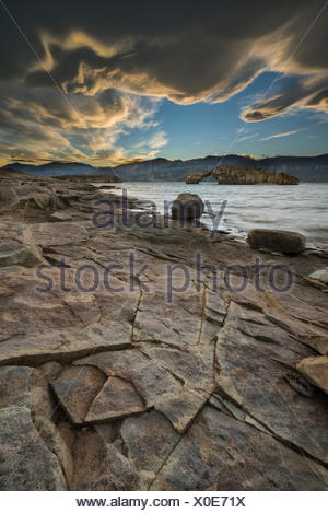South America,Argentina,Santa Cruz,Patagonia,Lago Posadas - Stock Photo