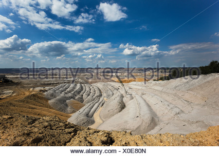 Germany, North Rhine-Westphalia, Hambach, Brown coal surface mining - Stock Photo