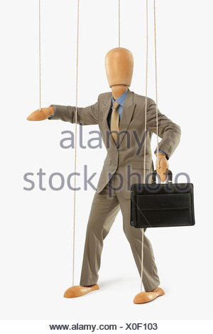 Puppet Dressed As A Businessman - Stock Photo