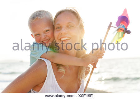 Turbine Paper Beach Carefree Playing Wind Concept - Stock Photo